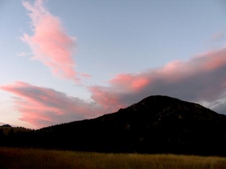 Sunset at Birch Creek Center, Dillon, MT