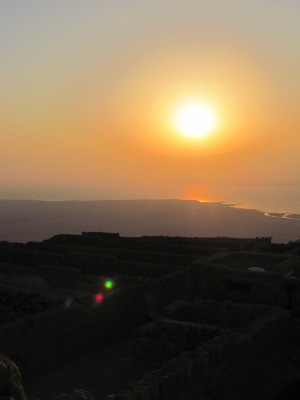 Sunrise over Jordan and the Dead Sea